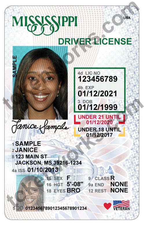 New Mississippi driver's license design for minors