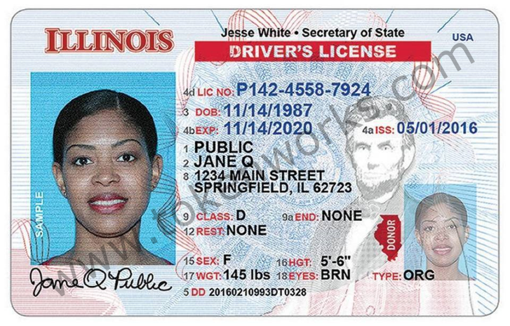 New Design for Illinois Driver License