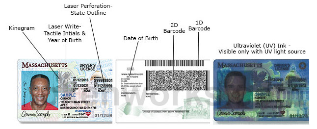 Massachusetts driver's license new design security features