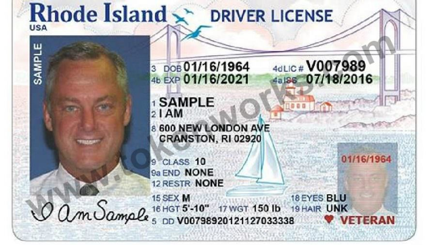 New Rhode Island Driver's License and State ID Card design