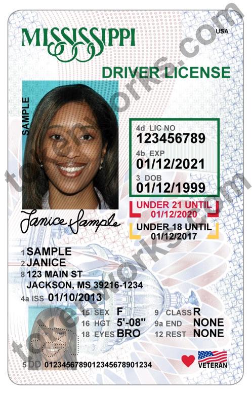 New Mississippi driver's license design for minors
